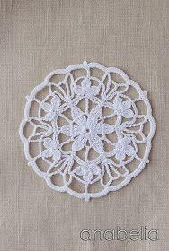 Crochet lace motif nr 3 by Anabelia Crochet Circles, Crochet Doily Patterns, Crochet Diagram, Crochet Chart, Crochet Squares, Thread Crochet, Love Crochet, Crochet Motif, Crochet Designs