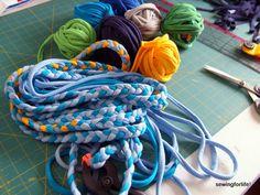 T-shirt braided rugs