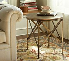 Campaign Accent Table #potterybarn