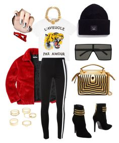 """""""Supreme."""" by vcvintage on Polyvore featuring Gucci, Pierre Balmain, Y-3, Fendi, Versace, Yves Saint Laurent, Charlotte Russe and Acne Studios"""