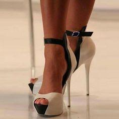 Fashion Peep Toe Strappy Stiletto High Heels #strappystilettoheels
