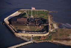 Fort Sumter is a coastal fortification in Charleston Harbor, South Carolina. It is made in a Third System masonry, which was a very ambitious sea coast defensive system built after the War of 1812.