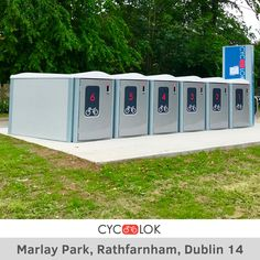 Another new Installation of Cyc-Lok bike locker unit near to the Marlay Park at Rathfarnham, Dublin 14 (Grange Road/Nutgrove Avenue junction beside the bus stop). If you are aware of the Marlay Park concert traffic, you know that traffic and parking delays tends to be extremely heavy and inevitable there including safety. So, park your bikes and belongings to keep them dry, safe and secure whilst you attend a concert or want to avoid the traffic delays. #MarlayPark #Rathfarnham #Dublin… Bike Locker, Parking Solutions, Bike Parking, Bus Stop, Inevitable, Dublin, Lockers, Safety, The Unit