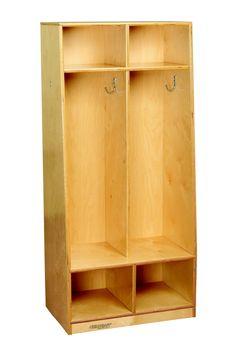 1 Tier 4-Section Bench Coat Locker