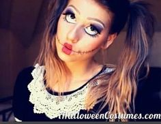 Scary Doll Makeup on Pinterest | Scary Clown Makeup, Scary Makeup ...