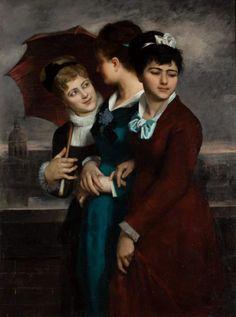 «Les trois grisettes» une des œuvres majeures de Marie Petiet.