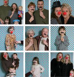 Circus Photo Booth. Simple props create the perfect pix!