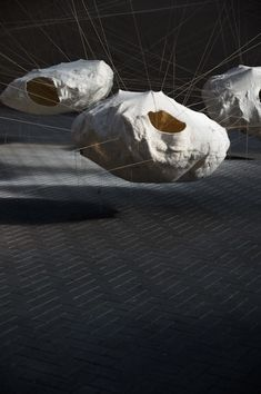 (photos by Leo Van Kampen) 1 year 28 sheep 140 kilos of wool 12 km of string Imagination, talent, love, and courage.... unme...