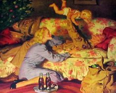 Haddon Sundblom (American 1899-1976) - Christmas Together...Welcoming A Fighting Man Back From War