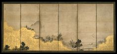 Screen Eight Views of the Xiao and Xiang Rivers , right Toeki Met Museum Of Art, Japanese Screen, Chinese Patterns, Chinese Landscape, Edo Period, Modern Traditional, Japan Art, Painted Doors, Large Painting