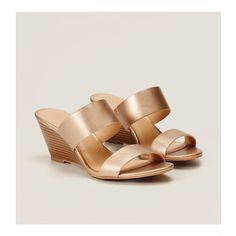 LOFT Metallic Strappy Wedge Sandals