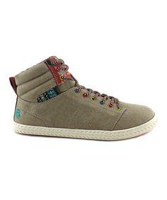Love this Beige Canvas She Rah Hi-Top Sneaker - Women on #zulily! #zulilyfinds