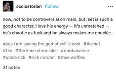Percy Jackson Memes, Percy Jackson Fandom, Kane Chronicals, Haha Funny, Funny Memes, Sadie Kane, Red Pyramid, Bookworm Problems, The Lightning Thief