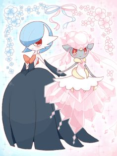 Ishi, Pokémon, Gardevoir, Diancie, Looking Ahead, Pink Flower