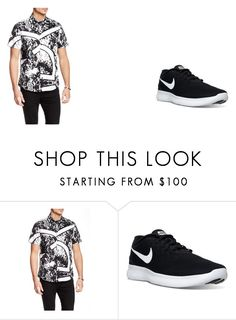 """Sem título #8"" by mariajuliaebeatriz on Polyvore featuring Versace and NIKE"