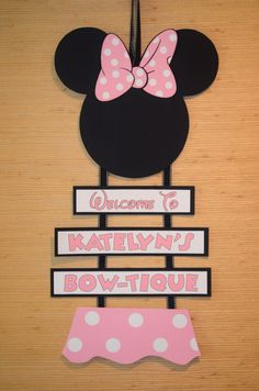Hey, I found this really awesome Etsy listing at https://www.etsy.com/listing/161447172/minnie-mouse-inspired-welcome-door-sign