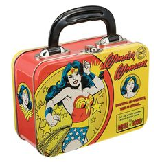 Amazon.com: Vandor 75270 Wonder Woman Small Tin Tote, Multicolored: Kitchen & Dining