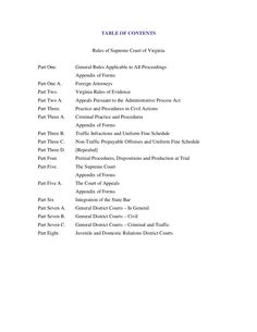 Virginia Rules of The Court by Chuck Thompson via slideshare