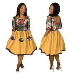 Robe Africaine Promotion Cotton African Dresses For Women In African Clothing 2018 New Style African Women Clothing Indian Dresses For Girls, Short African Dresses, Latest African Fashion Dresses, African Print Fashion, Africa Fashion, Mom Fashion, African Prints, African Attire, African Wear