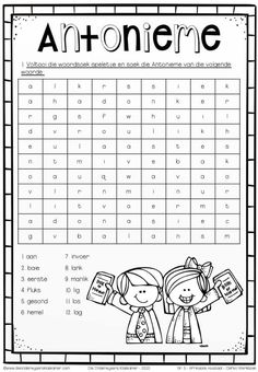 Kids Learning Activities, Language Activities, Afrikaans Language, Worksheets For Grade 3, Afrikaans Quotes, Activity Sheets, Dyslexia, Kids Education, Homeschooling