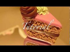 ▶ How to make a Polymer clay cake slice ( realistic ) - YouTube