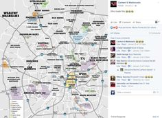 """Earlier this week, a San Antonio map labeled with distinguishers like """"half-assed gentrification,"""" """"arbitrary traffic tickets,"""" """"crappy apartments"""" and """"wannabe hipsters"""" grabbed the attention of local social media users. Shares of the photo have sky-rocketed with many people calling it the funniest thing they've seen all year and asking who made it. Photo: Facebook"""