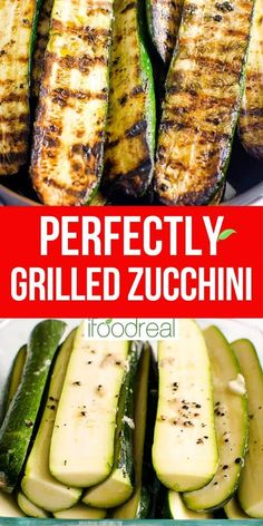 This easy Grilled Zucchini recipe requires just 5 ingredients (salt, pepper, and oil included!) and 20 minutes - for simple garlicky, lightly charred zucchini that can be made year-round. It's the perfect side dish for potlucks, BBQs, and grill season! Bbq Zucchini, Grilled Zucchini Recipes, Grilled Squash, Grilled Vegetables, Grilled Pizza, Zucchini On The Grill, Grilled Peppers, Zuchinni Recipes, Grilled Food