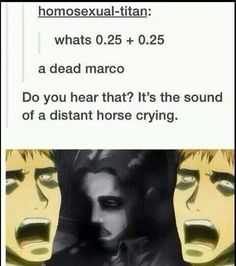 aot dead marco jokes - Google Search