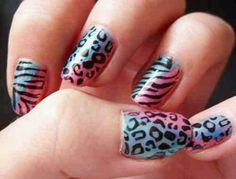 Cheetah and zebra print