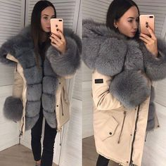 Fur Lined Coat, Fur Coat, Fur Fashion, Womens Fashion, Canada Goose Jackets, Parka, Winter Jackets, Selfie, Fur