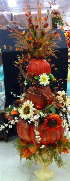 5'..  fall pumpkin topiary.