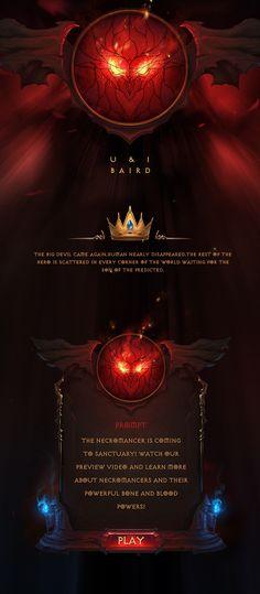 Diablo style game UI on Behance