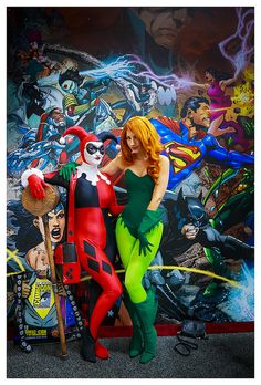 harley quinn and poison ivy | comic-con 2013