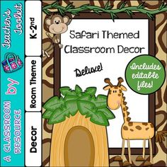 Thinking ahead to the next school year? Why not consider this adorable Safari Room Theme for your classroom? This is the 'deluxe edition' and includes editable files!