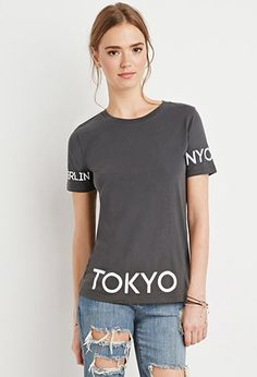Tops - Graphic Tees - Places   WOMEN   Forever 21