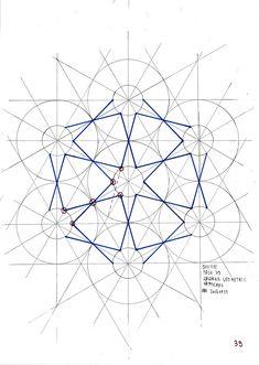 039 20161110 by odonodo Islamic Art Pattern, Arabic Pattern, Geometry Pattern, Pattern Art, Geometric Drawing, Geometric Shapes, Geometric Mandala, Motifs Islamiques, Sacred Geometry Art