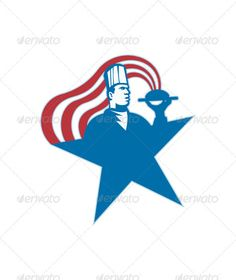 VECTOR DOWNLOAD (.ai, .psd) :: http://hardcast.de/pinterest-itmid-1002360333i.html ... Chef Cook Baker Serving Hot Food Stars Stripes ...  artwork, baker, chef, cook, food, graphics, hat, hot, illustration, male, man, serving, star, stripes, worker  ... Vectors Graphics Design Illustration Isolated Vector Templates Textures Stock Business Realistic eCommerce Wordpress Infographics Element Print Webdesign ... DOWNLOAD :: http://hardcast.de/pinterest-itmid-1002360333i.html
