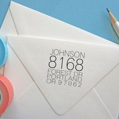 Boxy Script  SelfInking Stamp  Snail Mail Envelopes And Craft