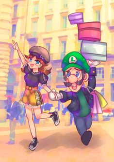 Nintendo Super Smash Bros, New Super Mario Bros, Super Mario Art, Super Mario Brothers, Luigi And Daisy, Mario And Luigi, Mario Kart, Super Princess Peach, Marvel Cartoon Movies