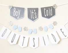 Check out this listing on ETSY !    Boy it's cold outside, baby it's cold outside, winter baby shower, it's a boy, winter theme baby shower, boy it's cold outside decoration, winter wonderland, winter onederland, decoration, hot Cocoa bar, winter wonderland hot Cocoa bar