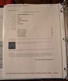 Genealogy Binder Organization // The Spiraling Chains by Emily Kowalski Schroeder