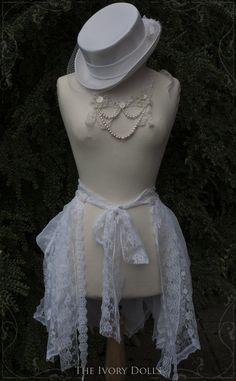 OOAK Faery Bustle Wrap Skirt with adjustable pixie hem, and OOAK Faery Empress necklace.  Original image by Hokum Deadfall Photography.