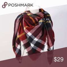 •BACK IN STOCK• Triangle Plaid Blanket Scarf Brand new. Accessories Scarves & Wraps