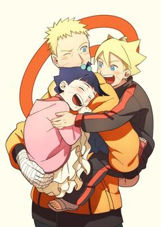 Naruto with his children