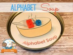 Letter Matching Alphabet Soup Activity + FREE Printable