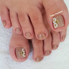 Cute Toe Nails, Cute Toes, Pretty Toes, Toe Nail Art, Toe Nail Designs, Acrylic Nail Designs, Acrylic Nails, Beauty Forever, Manicure E Pedicure
