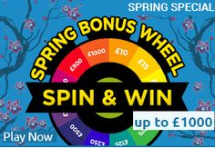 Participate in spin and win contest at  #harrys #bingo and Win cash.