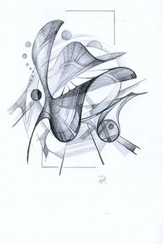 Abstract Pencil Drawings, Abstract Sketches, Art Sketches, Art Drawings, Abstract Art, Sad Paintings, Architecture Sketchbook, Industrial Design Sketch, Elements Of Art
