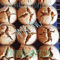 Kanel og æble muffins.