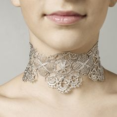 www.ORRO.co.uk - Brigitte Adolph - Platinum Venezia Collar Necklace - ORRO Contemporary Jewellery Glasgow